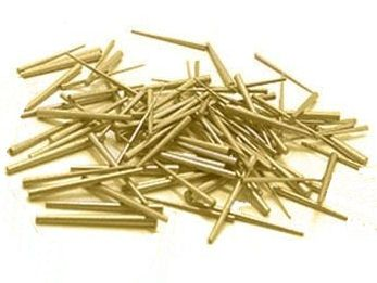 Gauged BrassTapered Clock Pins  Size 4 - 0.65 x 1.10 x 14.0mm 100pcs