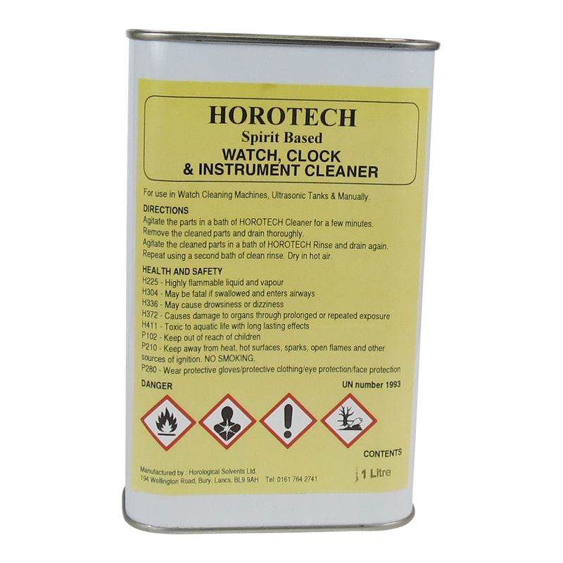 HOROTECH Spirit Based WATCH, CLOCK and INSTRUMENT CLEANER 1lt