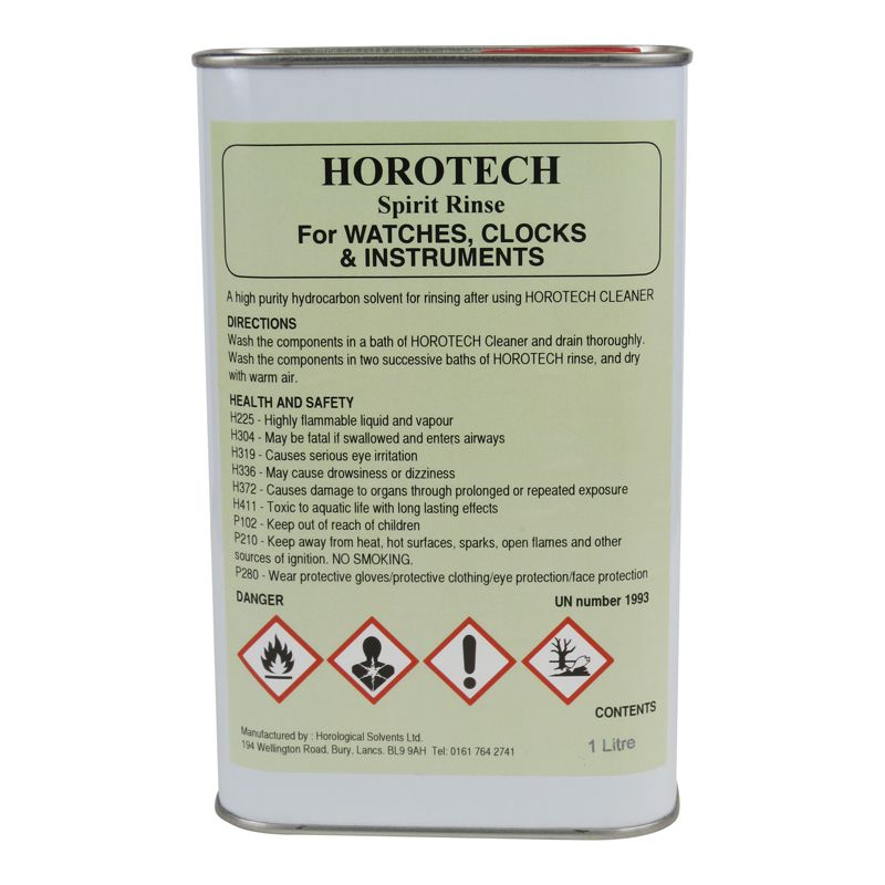 HOROTECH Spirit Rinse For WATCHES, CLOCKS AND INSTRUMENTS 1lt