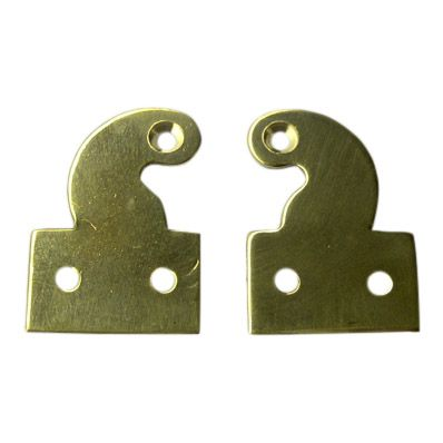 Longcase Hood Door Hinges, Drilled & Polished  (Pair)